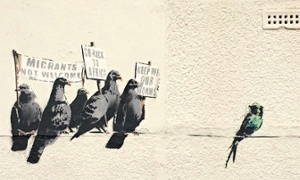 Banksy's Migrants Go Home