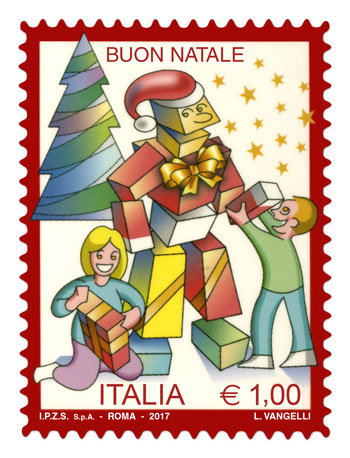 Normal Italian Christmas stamp 2017